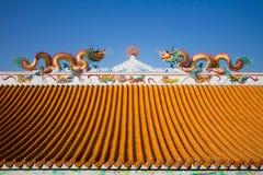 Toit dans le temple chinois Images libres de droits