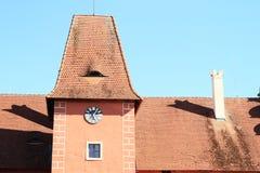 Toit de château Cervena Lhota Photo stock