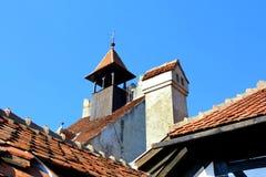 Toit de château de son, château de Dracula, Roumanie images stock