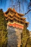 Toit de chinois traditionnel Type national Bannière lumineuse prête Photographie stock libre de droits