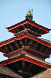 Toit de Hanuman Dhoka à la place de Basantapur Durbar à Katmandou Photos stock