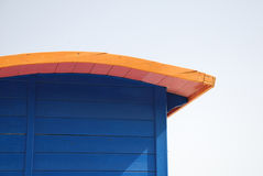 Toit de hutte de plage Photographie stock