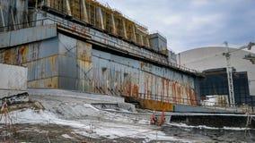 Toit de la centrale nucléaire à Chernobyl Images libres de droits