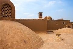 Toit de maison historique de Khan-e Ameriha Images libres de droits