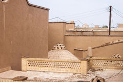 Toit de maison historique de Khan-e Ameriha Photo stock