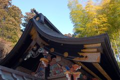 Toit de mausolée de Zuihoden Photographie stock