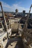 Toit de Milan Cathedral Image stock