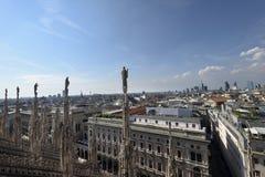 Toit de Milan Cathedral Images libres de droits