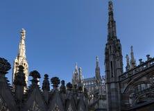 Toit de Milan Cathedral Photographie stock libre de droits