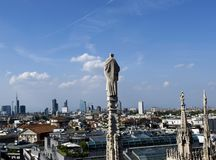 Toit de Milan Cathedral Image libre de droits