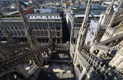 Toit de Milan Cathedral Image stock