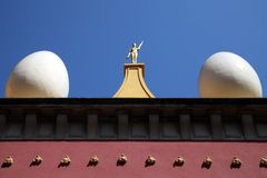 Toit de musée de Dali, Figueras photographie stock libre de droits