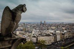 Toit de Notre-Dame de Paris Photos stock