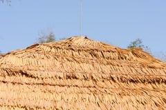 Toit de paille de riz Images libres de droits