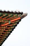 Toit de plan rapproché de temple de la Corée image stock