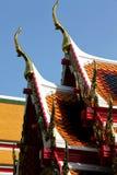 Toit de temple bouddhiste photo libre de droits
