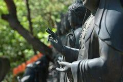 Toit de temple de Cheonchuksa, parc national de Dobongsan, Séoul, Corée photographie stock