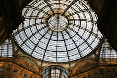 Toit de Vittorio Emanuele II de Galleria Images stock
