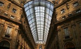 Toit de Vittorio Emanuele II de Galleria Images libres de droits