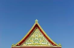 Toit de Wat Pho Photo libre de droits