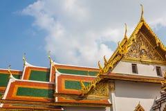 Toit de Wat Phra Kaew, temple d'Emerald Buddha, Bangkok, Th Photo stock