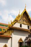 Toit de Wat Phra Kaew, temple d'Emerald Buddha, Bangkok, Th Image stock