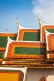 Toit de Wat Phra Kaew, temple d'Emerald Buddha, Bangkok, Th Photo libre de droits