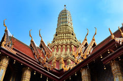 Toit de Wat Phra Kaew Images libres de droits