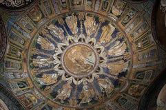 Toit du 10ème siècle de mosaïque à Ravenne Italie Photo stock