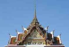 Toit du temple de la Thaïlande Images stock