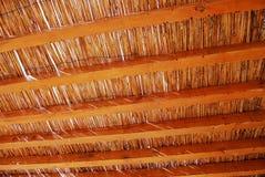 Toit en bambou Photos libres de droits