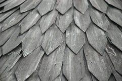 Toit en bois âgé Image libre de droits