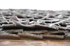 Toit en bois Photo du bout Images libres de droits