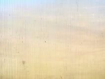 Toit en plastique de serre chaude cannelé par texture de fond Images libres de droits