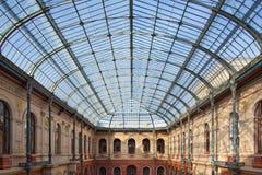Toit en verre de l'école d'beaux-arts à Paris Photo stock