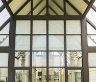 Toit en verre de l'immeuble de bureaux moderne Images libres de droits
