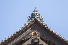 Toit japonais de château Images stock