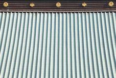 Toit japonais de temple Images libres de droits