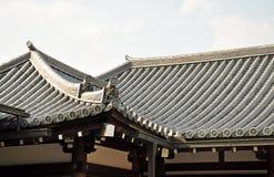 Toit japonais de temple Images stock