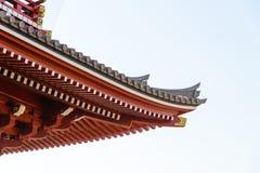 Toit japonais de temple Image libre de droits