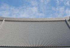 Toit japonais de temple, temple de Senso-JI, Asakusa Images stock