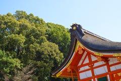 Toit japonais traditionnel de temple Photo libre de droits