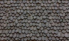 Toit noir en bois Image libre de droits