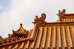 Toit religieux chinois de temple Image libre de droits