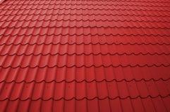 Toit rouge de Tileable Images stock