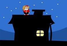 toit Santa de Claus illustration stock