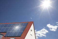Toit solaire Photo stock