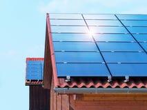 Toit solaire Photos stock