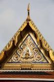 Toit thaïlandais de temple en Wat Phra Kaew, Bangkok, Thaïlande Images libres de droits
