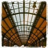 Toit trainstation historique Images stock
